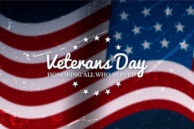 Conceito realista do dia dos veteranos Vetor grátis