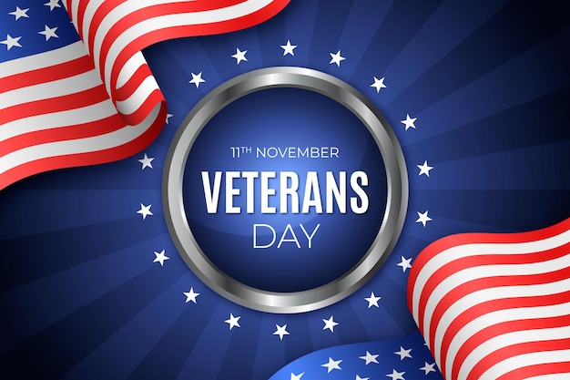 Conceito realista do dia dos veteranos Vetor Premium