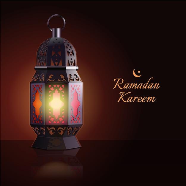 Conceito realista do ramadã Vetor grátis