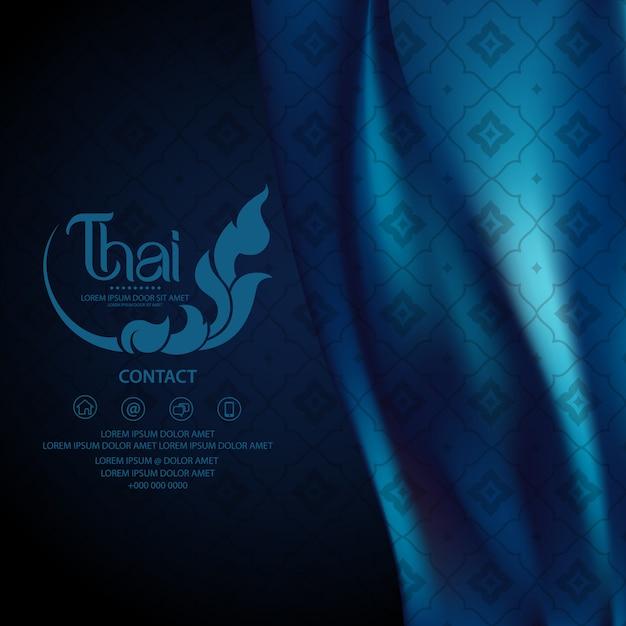 Conceito tradicional de padrão tailandês - as artes da tailândia Vetor Premium