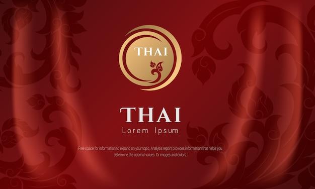 Conceito tradicional do teste padrão tailandês as artes de tailândia. Vetor Premium