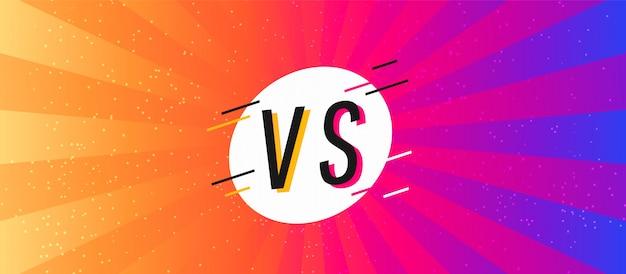 Conceito versus tela. batalha de fundo apartamento moderno Vetor Premium