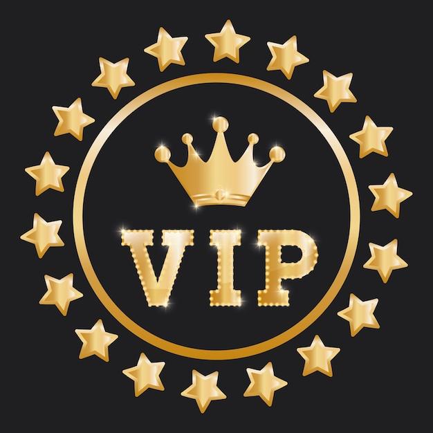 Conceito vip com design de ícone Vetor Premium