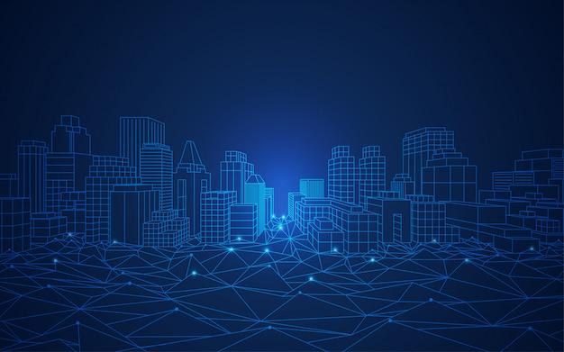 Conceitos de cidade inteligente Vetor Premium