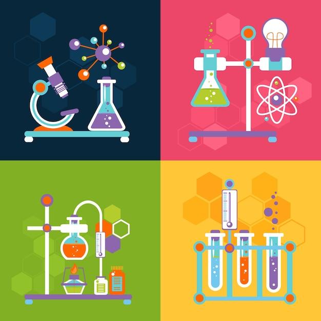 Conceitos de design de química Vetor grátis
