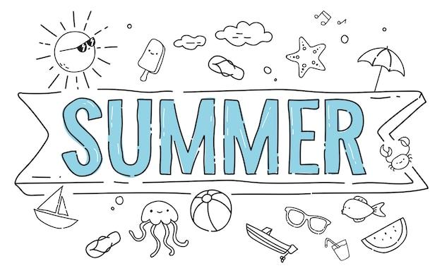 Conceitos de verão Vetor Premium