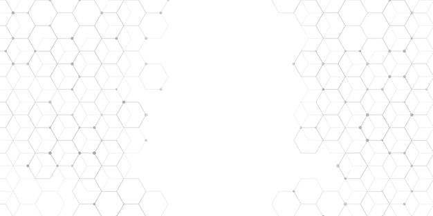 Concepção abstrata de banner de conexões Vetor grátis