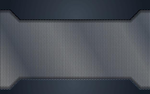 Concepção de conceito de aço prata abstrata Vetor Premium