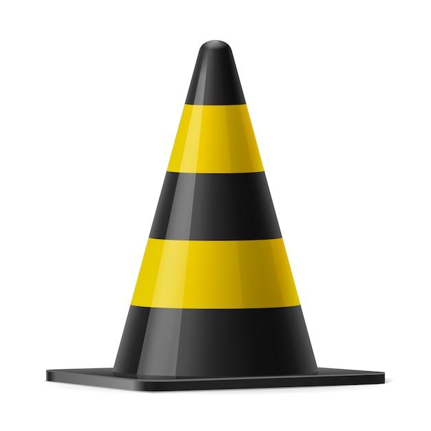 Cone de tráfego Vetor Premium
