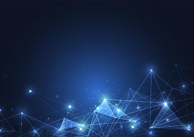 Conexão com a internet, senso abstrato da ciência Vetor Premium