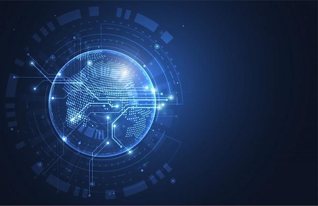 Conexão de rede global Vetor Premium