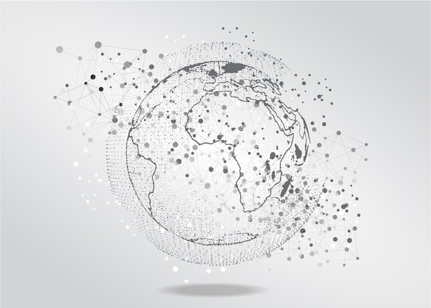 Conexão de rede Vetor Premium