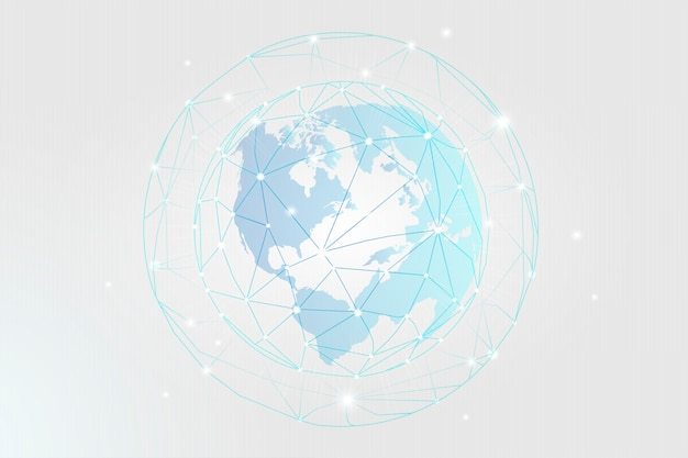 Conexão mundial Vetor grátis