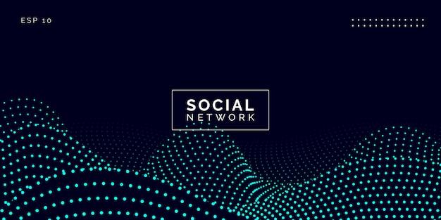 Conexões de rede social Vetor Premium