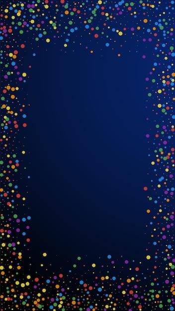Confete bonito festivo Vetor Premium