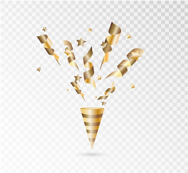 Confete colorido brilhante isolado Vetor Premium