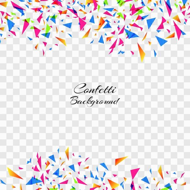 Confetes coloridos abstratos no fundo transparente. Vetor grátis