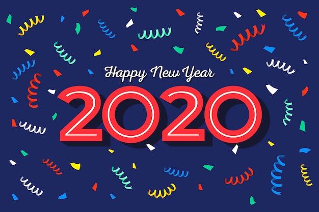 Confetes coloridos em espiral para o fundo de ano novo Vetor grátis