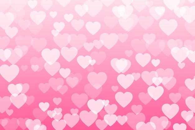 Confetes do coração das pétalas dos valentim que caem no fundo transparente. Vetor Premium