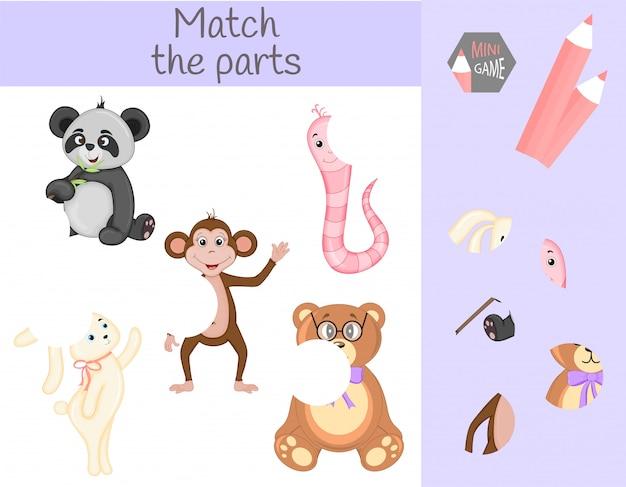 Conformidade com o jogo educativo infantil Vetor Premium
