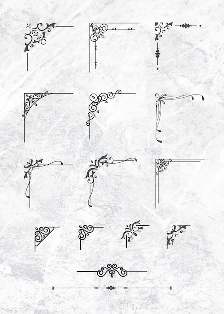 Conjunto clássico de bordas Vetor grátis