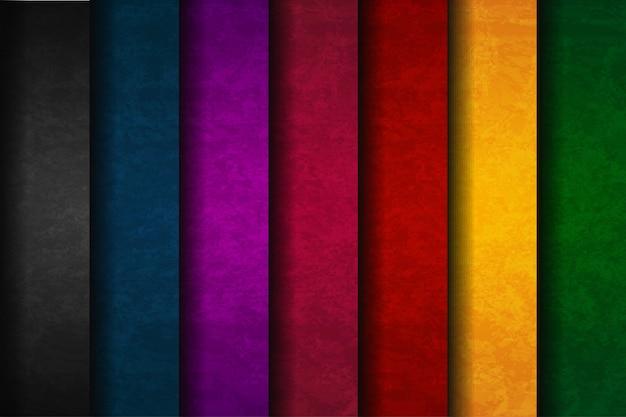 Conjunto colorido abstrato Vetor Premium