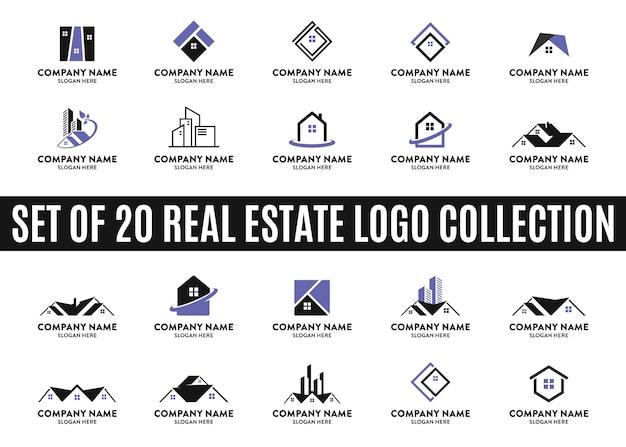 Conjunto das melhores coleções de logotipo imobiliário Vetor Premium