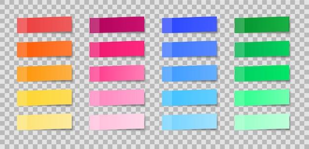 Conjunto de adesivos coloridos. lembretes. Vetor Premium