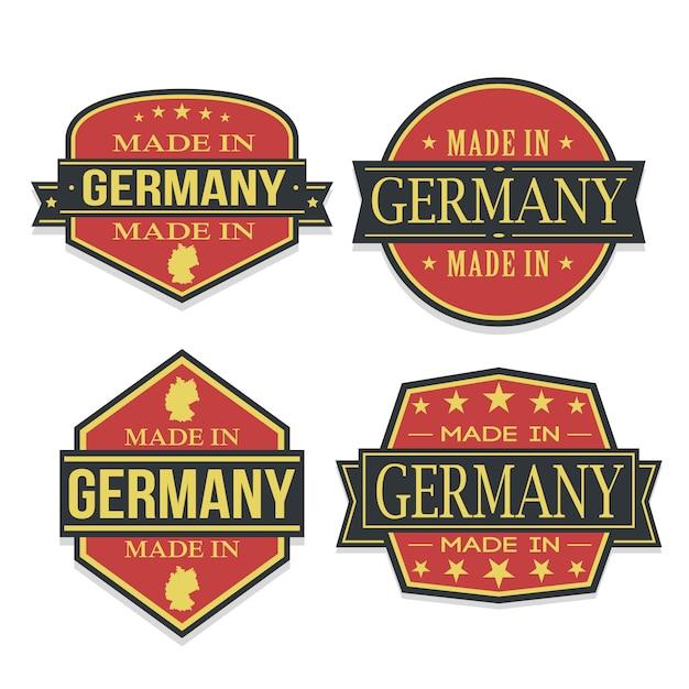 Conjunto de alemanha de viagens e negócios stamp desenhos Vetor Premium