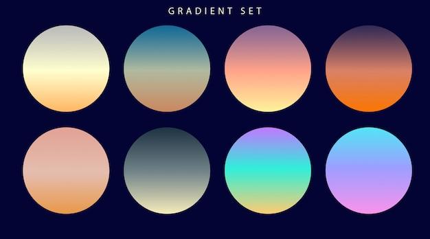 Conjunto de amostras de gradientes coloridos vibrantes Vetor Premium