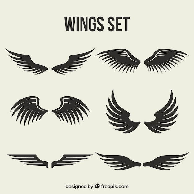 Conjunto de asas com diferentes desenhos Vetor grátis