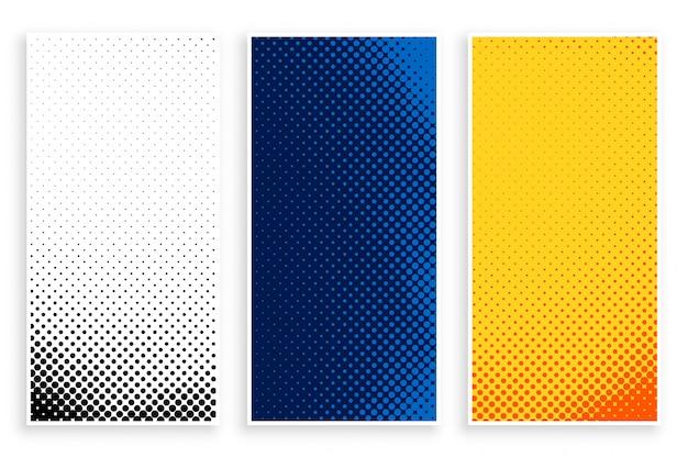 Conjunto de bandeiras de meio-tom elegante conjunto Vetor grátis