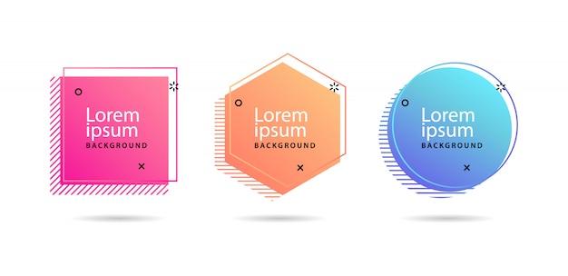 Conjunto de bandeiras de vetor abstrato moderno Vetor Premium