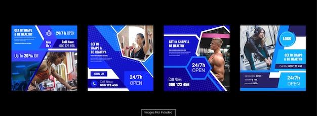 Conjunto de banner de mídia social, anúncios de marketing e promoção Vetor Premium