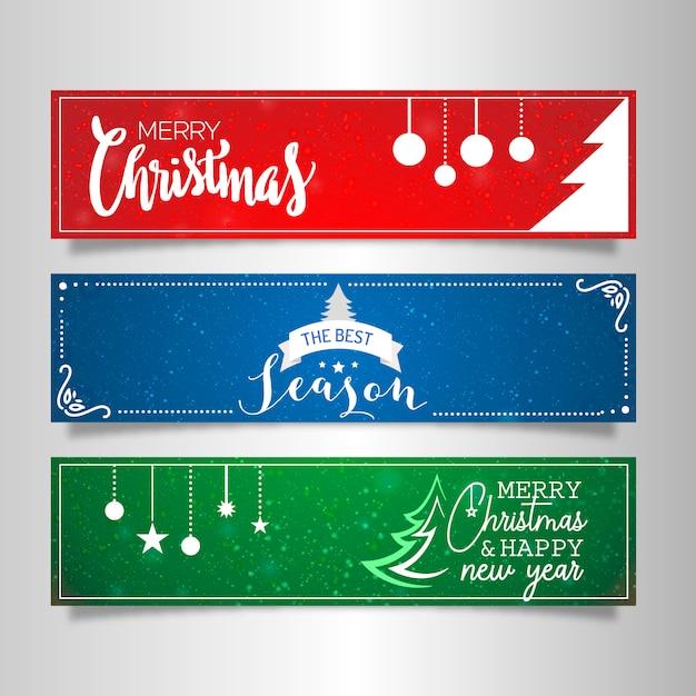 Conjunto de banner de natal Vetor grátis
