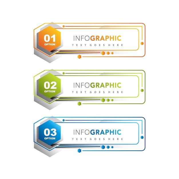 Conjunto de banner infográfico Vetor grátis