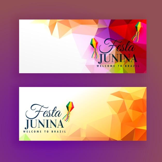 Conjunto de banners festa junina Vetor grátis