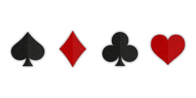 Conjunto de baralho de cartas de símbolos Vetor Premium