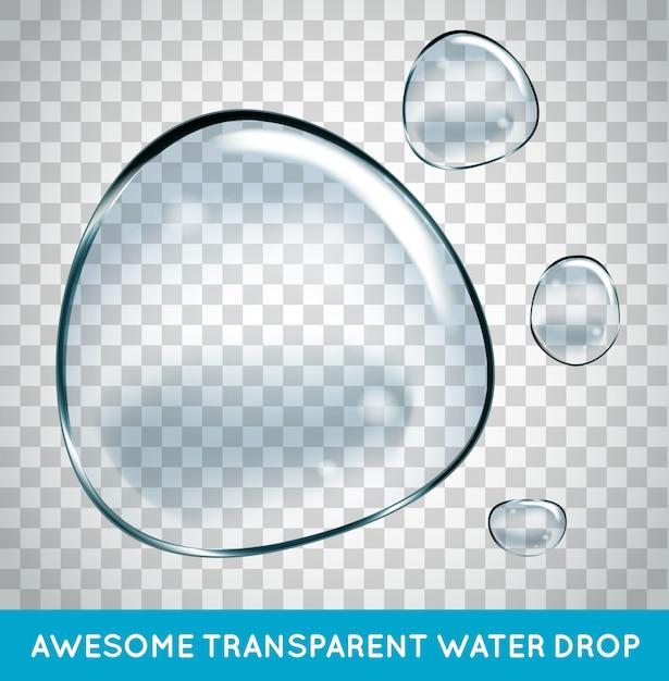 Conjunto de bolhas de água de sabão. Vetor Premium