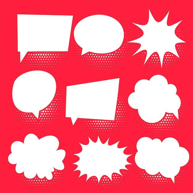 Conjunto de bolhas de bate-papo em quadrinhos Vetor grátis