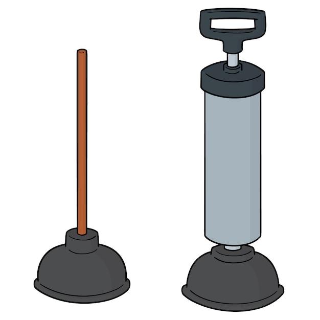 Conjunto de bomba de borracha higiênico Vetor Premium
