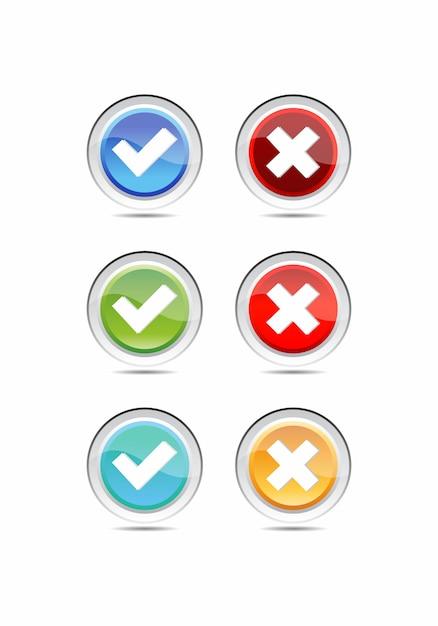Conjunto de botões de estilo material moderno para site, aplicativo móvel e infográfico Vetor Premium