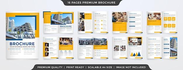 Conjunto de brochura Vetor Premium