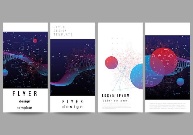 Conjunto de brochuras Vetor Premium