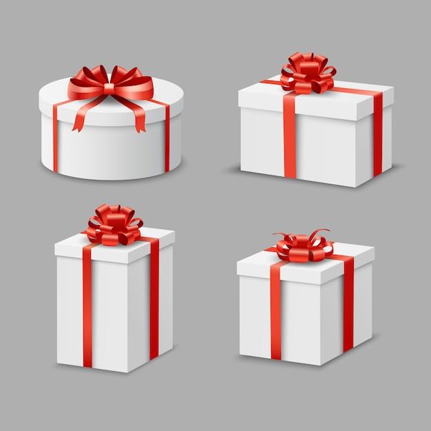 Conjunto de caixas de presentes Vetor grátis