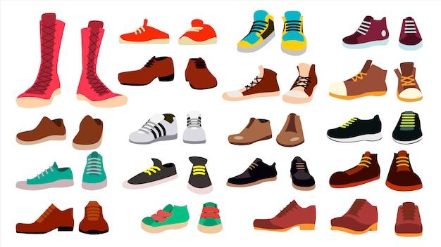 Conjunto de calçados Vetor Premium
