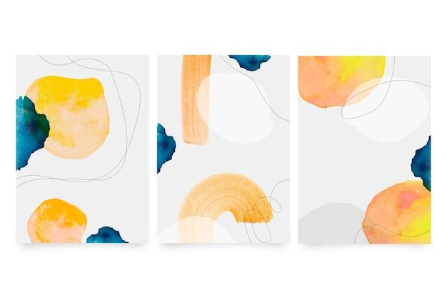 Conjunto de capas de aquarela Vetor grátis
