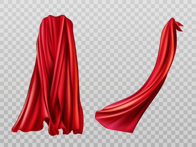 Conjunto de capas vermelhas Vetor grátis