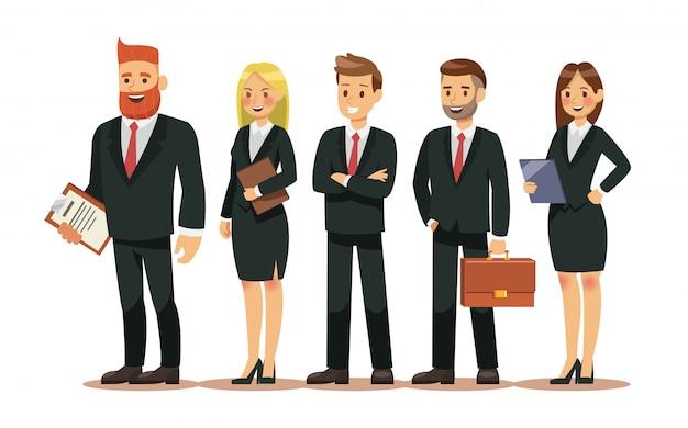 Conjunto de caracteres de pessoas para negócios Vetor Premium