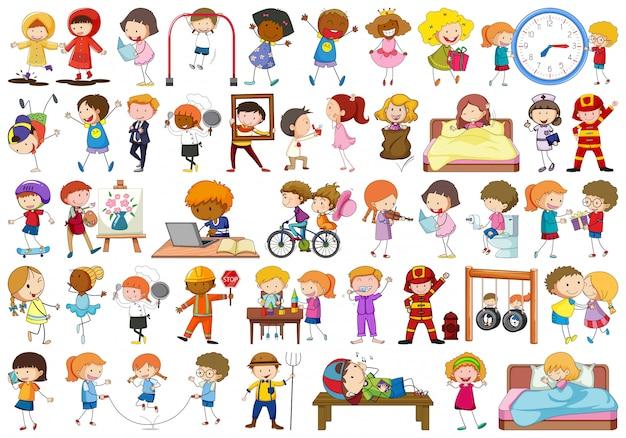 Conjunto de caracteres de pessoas Vetor grátis